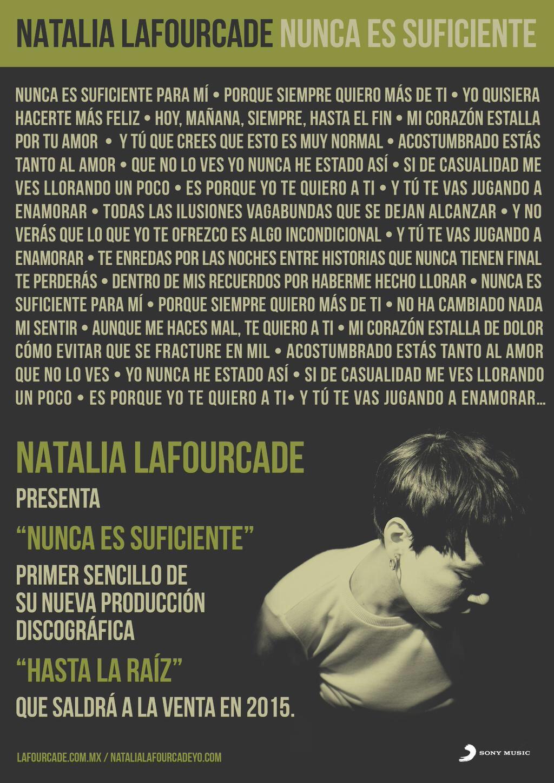 """ed0a29b603 """"Nunca es suficiente"""" es el primer sencillo de su nuevo álbum """"Hasta la raíz"""",  mismo que será la carta de presentación a nivel internacional para esta  nueva ..."""
