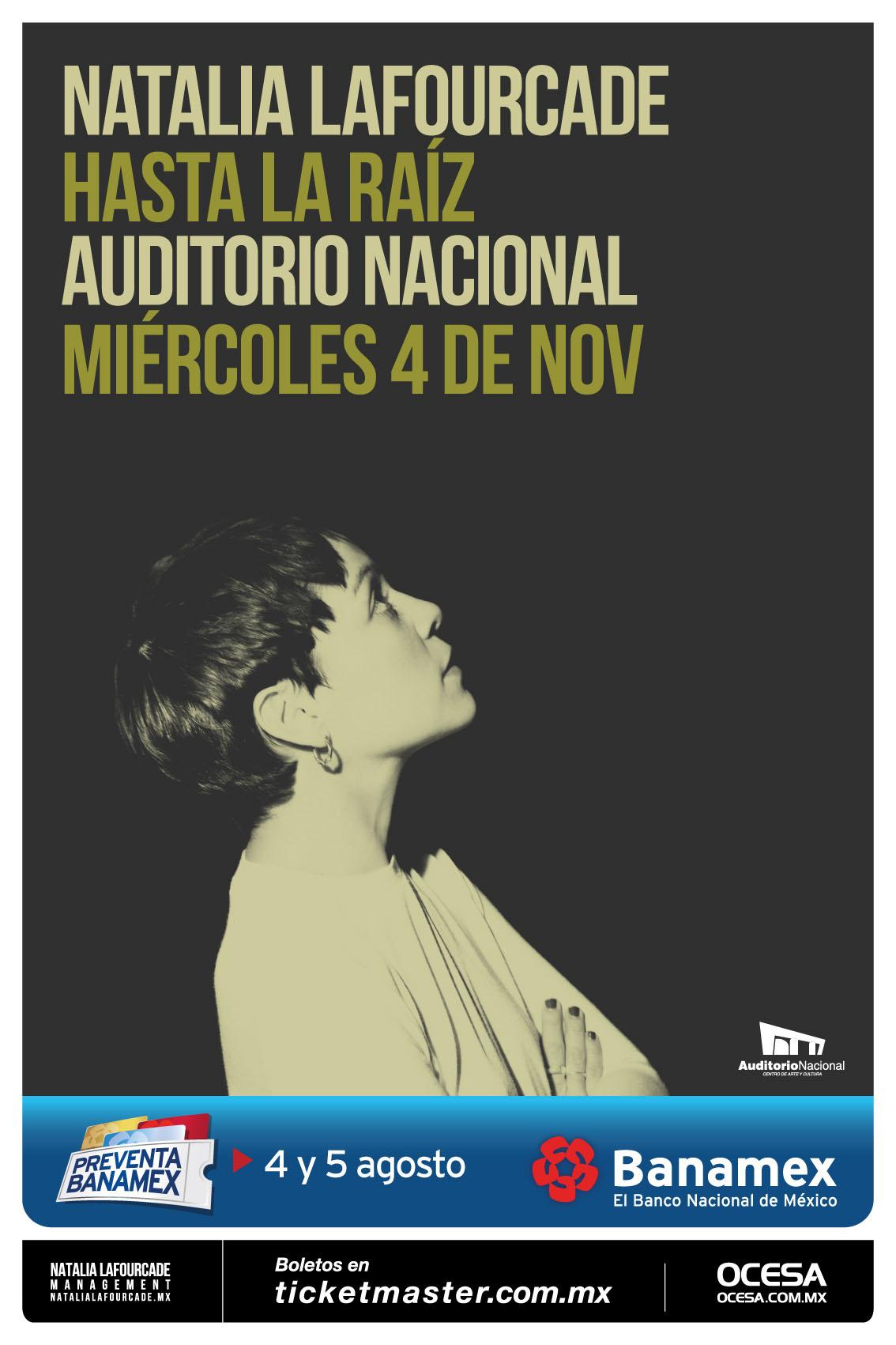 Natalia Lafourcade anuncia primer concierto en el Auditorio Nacional