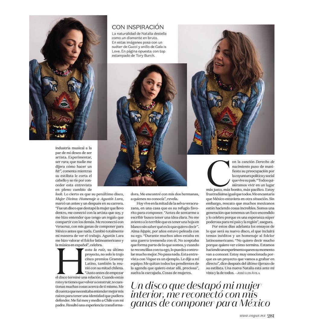 Natalia Lafourcade en la Revista Vogue México - Página 2