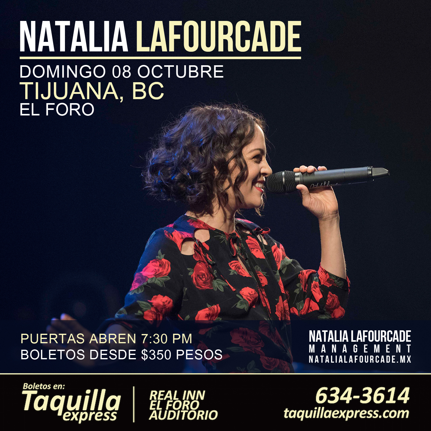 Natalia Lafourcade en El Foro de Tijuana, BC